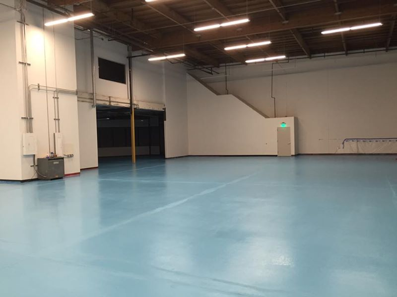 concrete epoxy floor warehouse