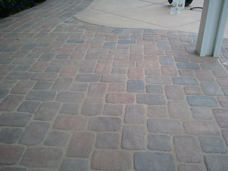 pavers power wash